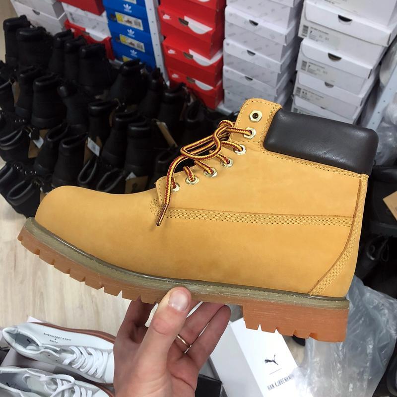 Шикарные ботинки timberland boots рыжие