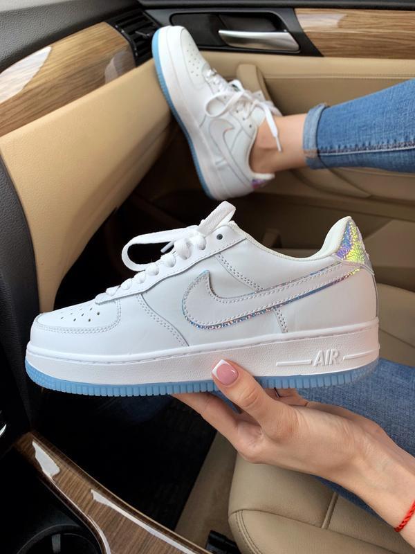 Шикарные женские кроссовки nike air force 1 low белые