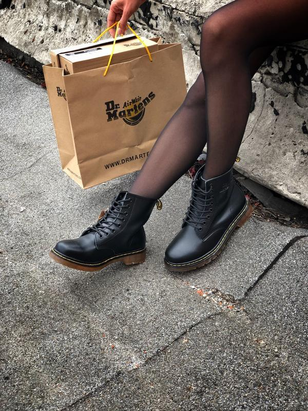 Шикарные ботинки dr. martens 1460 black чёрные