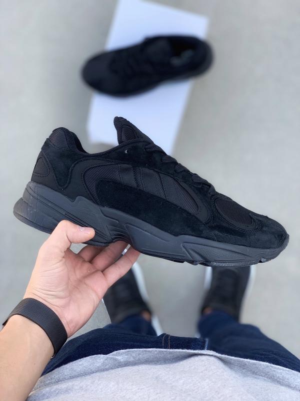Шикарные мужские кроссовки adidas yung 1 total black