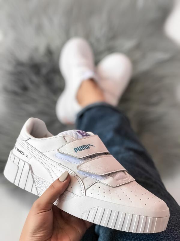 Шикарные женские кроссовки puma sg cali белые