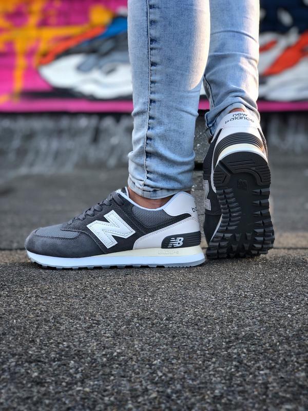 Шикарные кроссовки new balance 574 grey серые