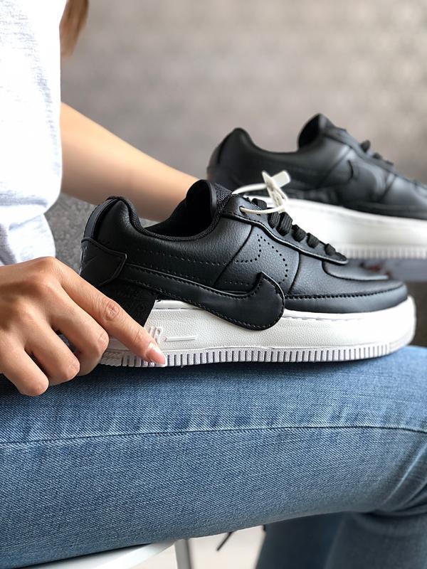 Шикарные женские кроссовки nike air force 1 low black чёрные