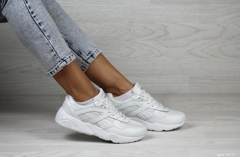 Шикарные женские кроссовки puma trinomic белые