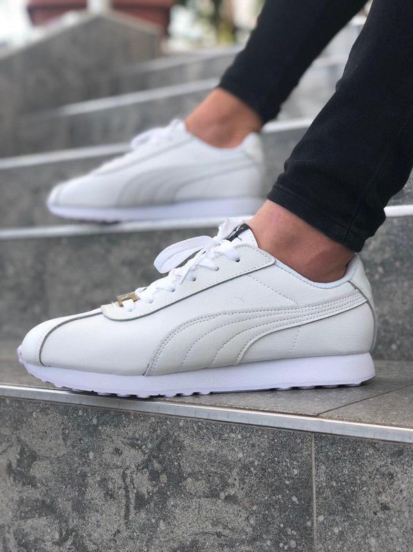 Шикарные женские кроссовки puma suede белые