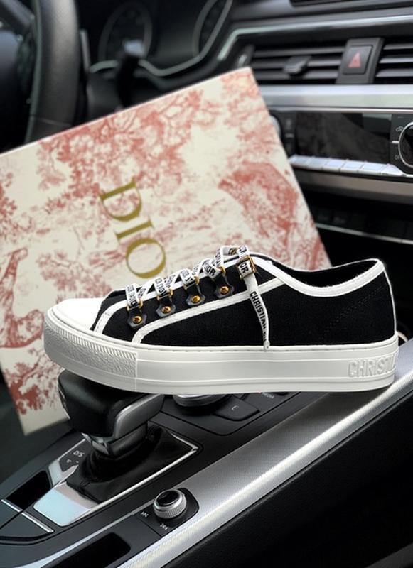 Шикарные женские кроссовки christian dior low top black чёрные