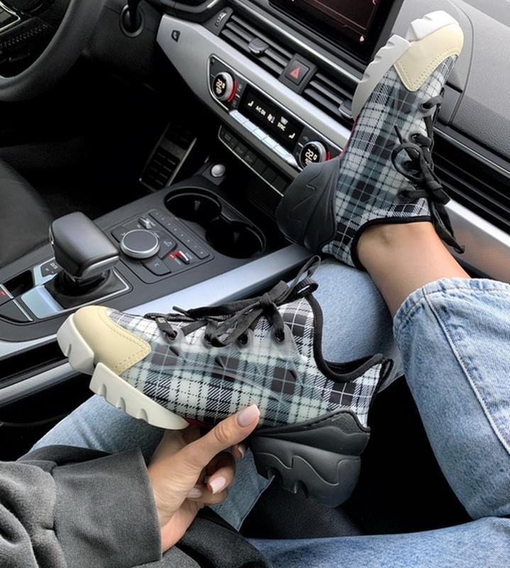 Шикарные женские кроссовки christian dior neoprene