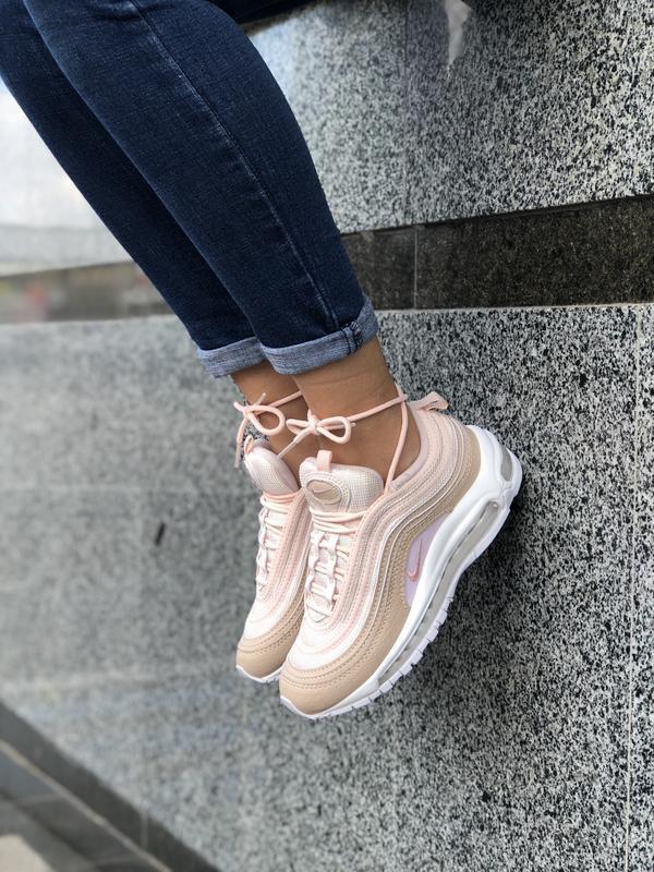 Шикарные женские кроссовки nike air max 97 pink розовые
