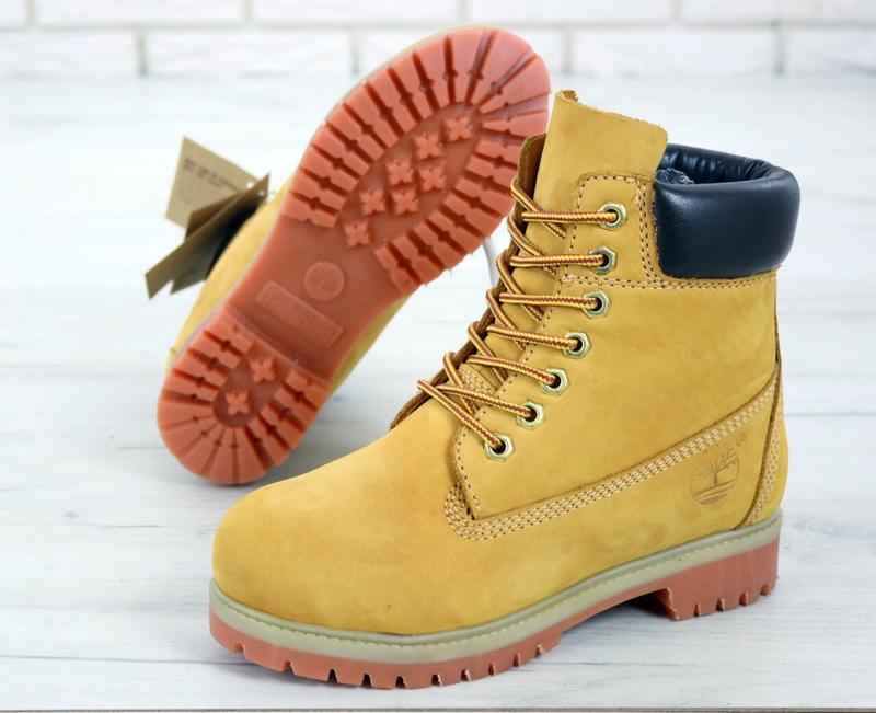 Шикарные женские ботинки timberland boots рыжие демисезон