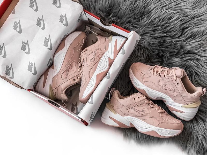 Шикарные женские кроссовки nike tekno m2k розовые - Фото 2