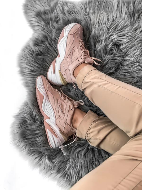 Шикарные женские кроссовки nike tekno m2k розовые - Фото 3