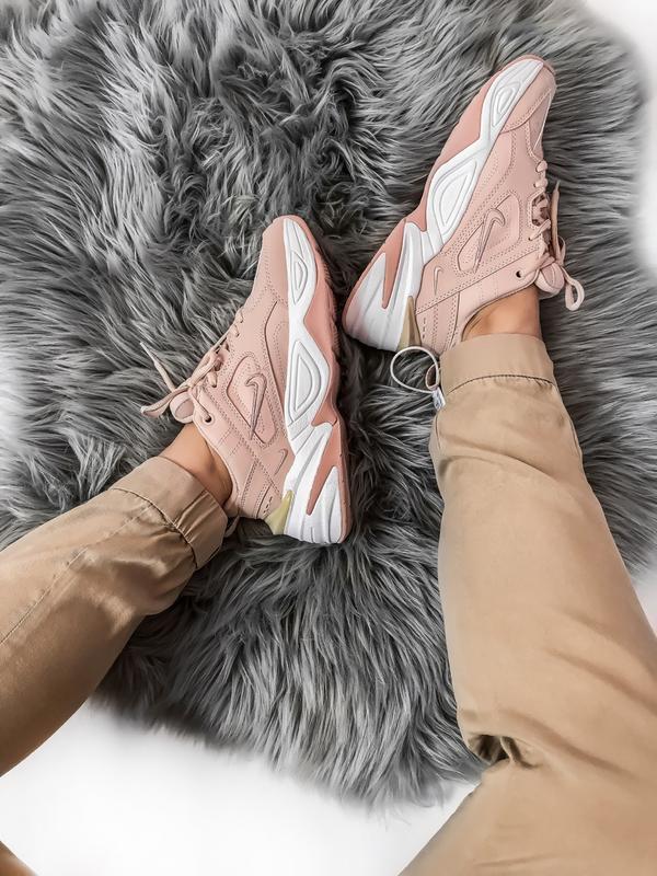 Шикарные женские кроссовки nike tekno m2k розовые - Фото 4