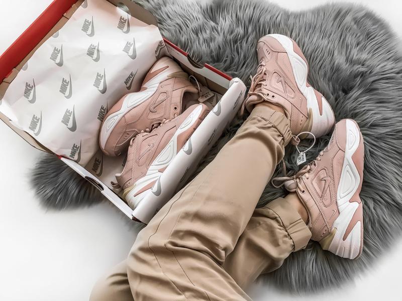 Шикарные женские кроссовки nike tekno m2k розовые - Фото 5