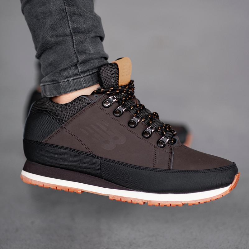 Шикарные мужские кроссовки ботинки new balance 574 brown зима)...