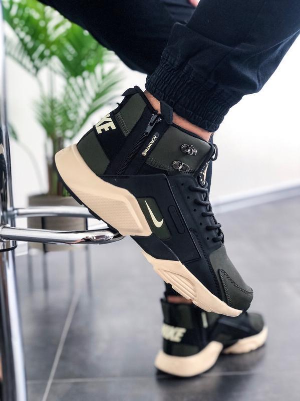 Шикарные мужские кроссовки nike huarache winter acronym хаки