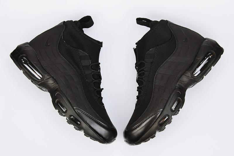 Шикарные мужские ботинки nike air max sneakers boots black чёр...