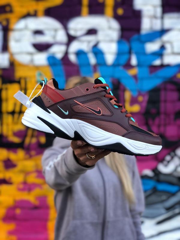 Шикарные мужские кроссовки nike m2k tekno коричневые