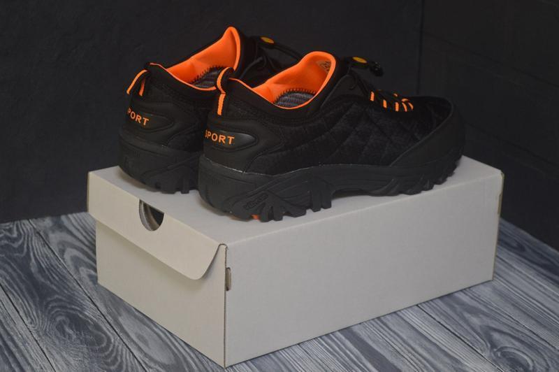 Шикарные мужские ботинки merrell чёрные с оранжевым😃 (осень зима)