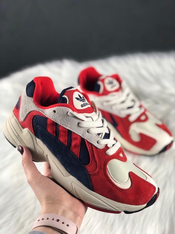 Шикарные женские кроссовки adidas yung 1 red white😃 (весна лет...
