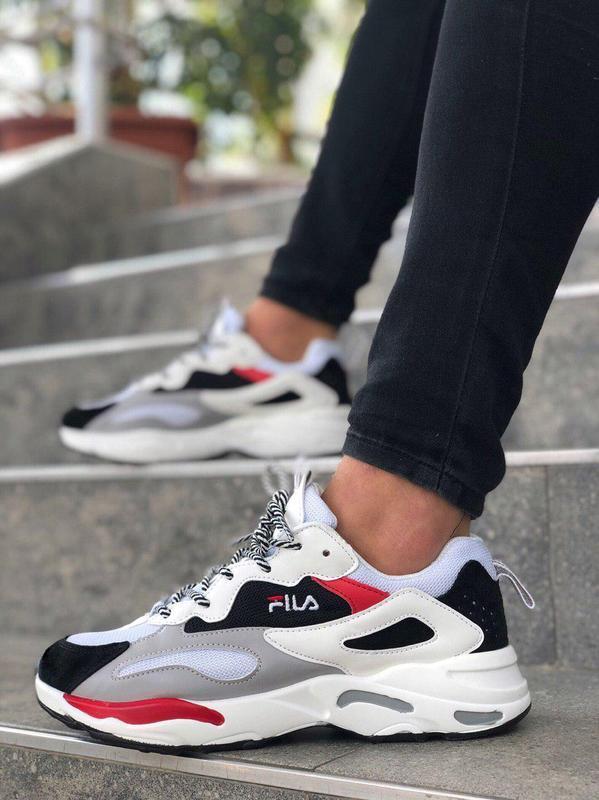 Шикарные женские кроссовки fila white белые 😃 (весна лето осень)