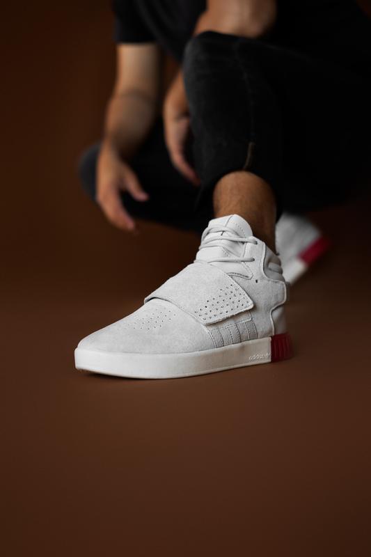 Шикарные мужские кроссовки adidas tubular beige red 😃 (осень /...