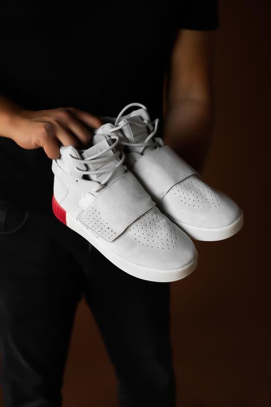 Шикарные мужские кроссовки adidas tubular beige red 😃 (осень /... - Фото 2