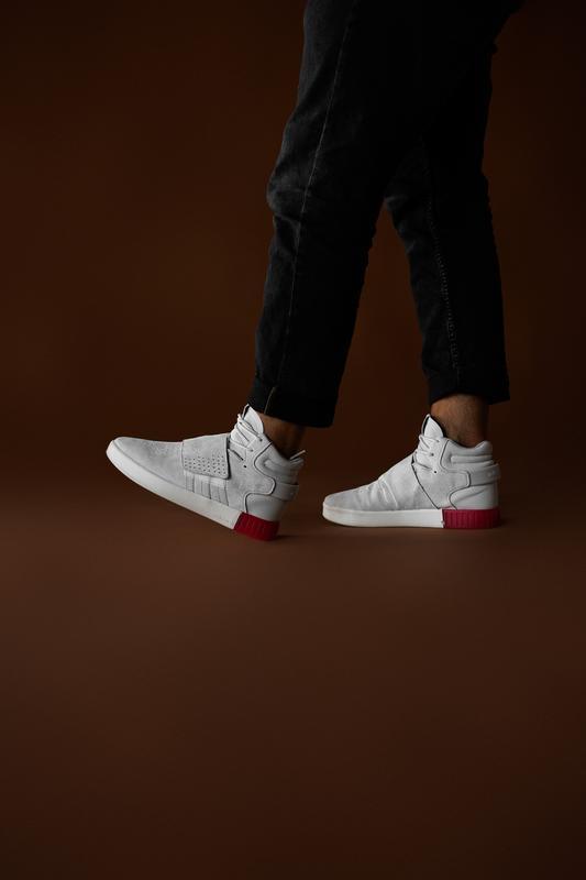 Шикарные мужские кроссовки adidas tubular beige red 😃 (осень /... - Фото 5