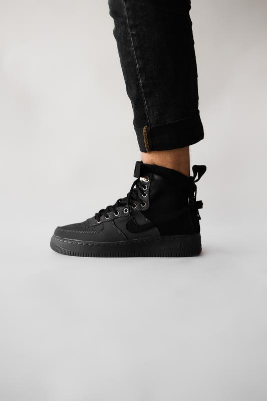 Шикарные мужские кроссовки nike air force hight black 😃 (весна...