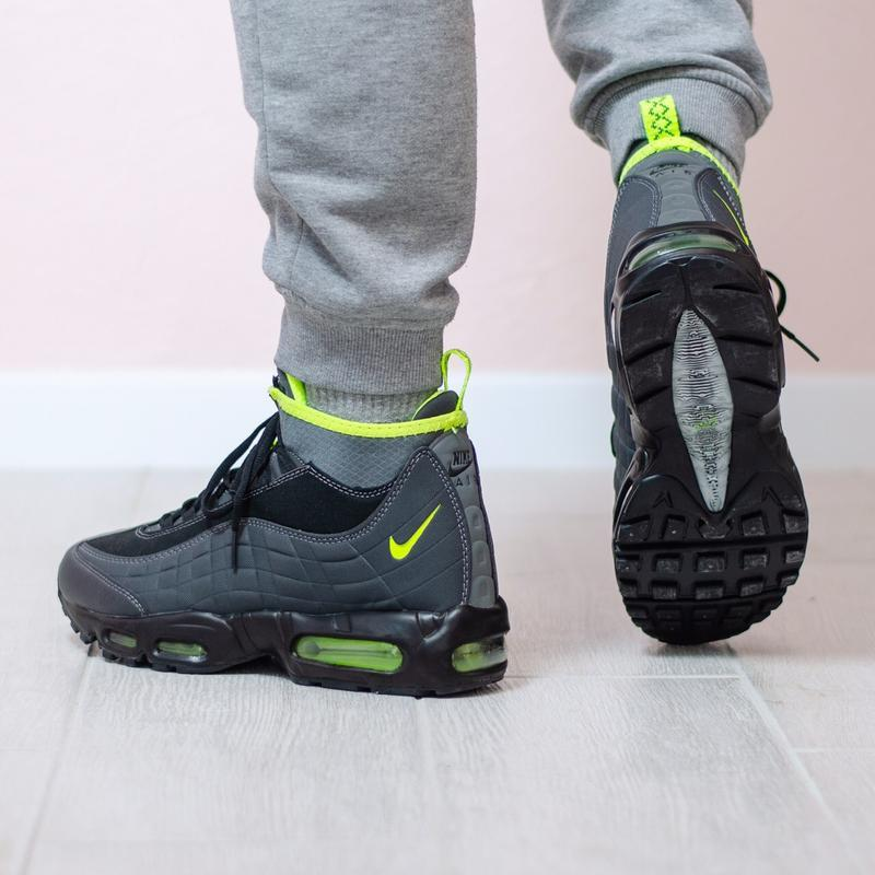 Шикарные мужские кроссовки nike air max sneakerboots 95 grey с...