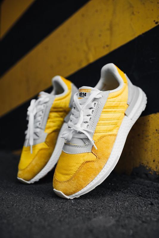 Шикарные мужские кроссовки adidas zx 500 rm bold gold желтые 😃... - Фото 2