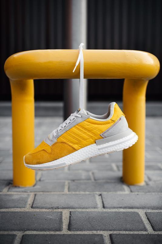 Шикарные мужские кроссовки adidas zx 500 rm bold gold желтые 😃... - Фото 5