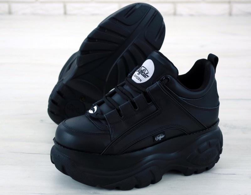 Шикарные женские кроссовки buffalo london black чёрные 😃 (весн...