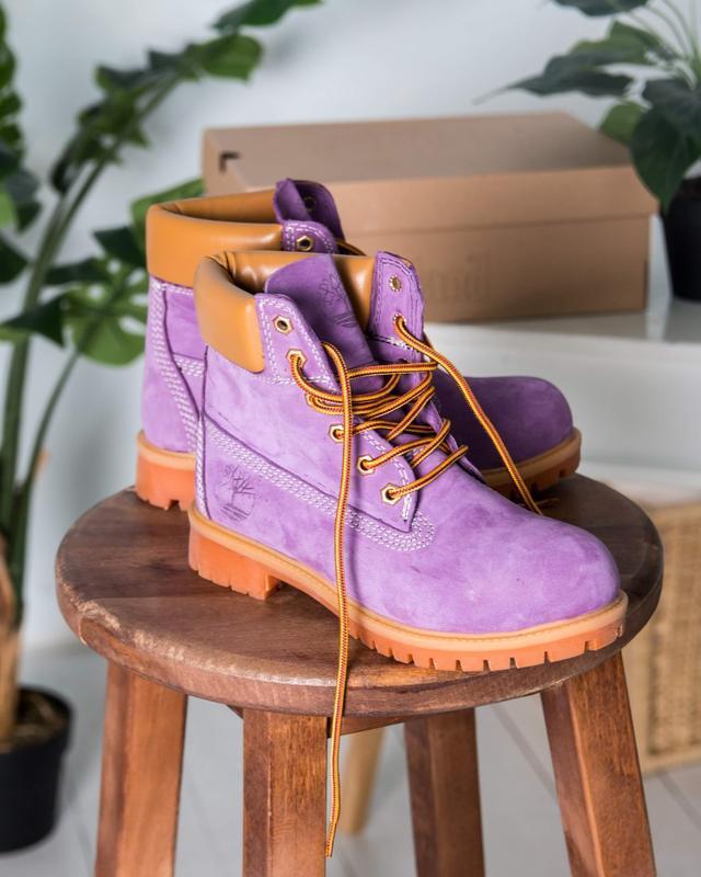 Шикарные женские ботинки timberland boots сиреневые 😃 (весна о...