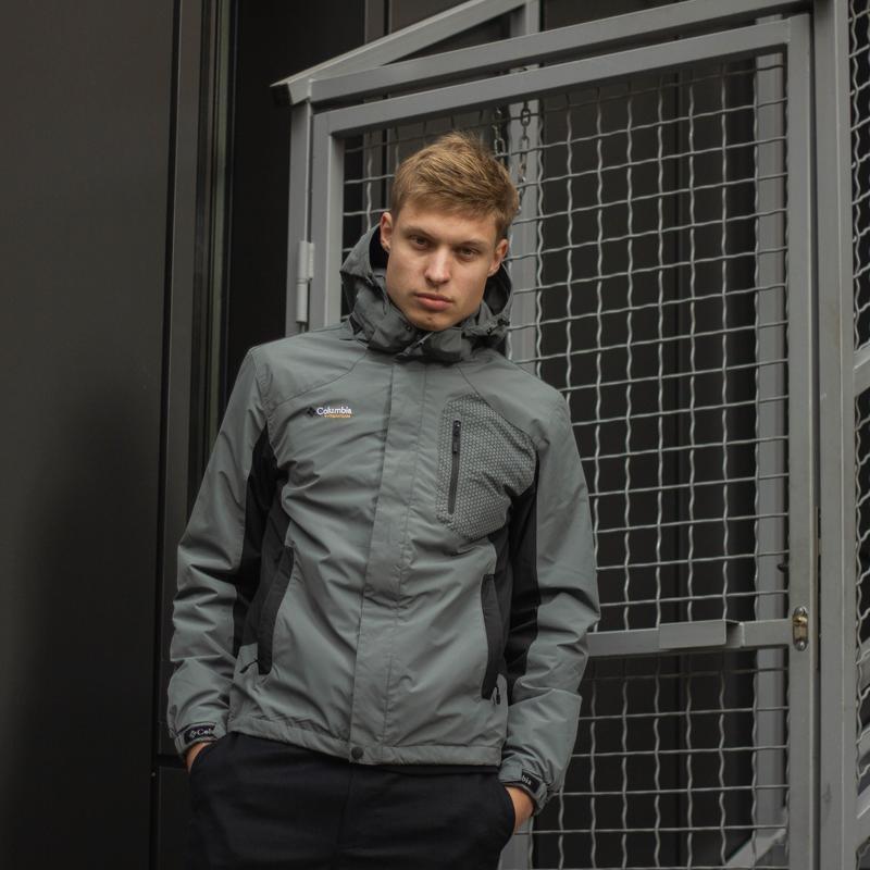 Демисезонная куртка columbia серая мужская