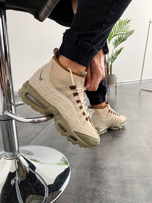 Шикарные мужские ботинки nike air max sneakerboot 95 beige 😃 (...