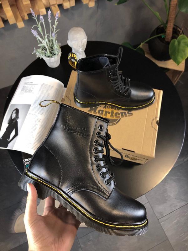 Шикарные женские ботинки dr martens 1460 full black чёрные 😃 (...