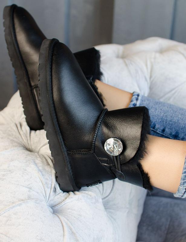 Шикарные женские сапоги ботинки ugg mini bailey button рыжие в...