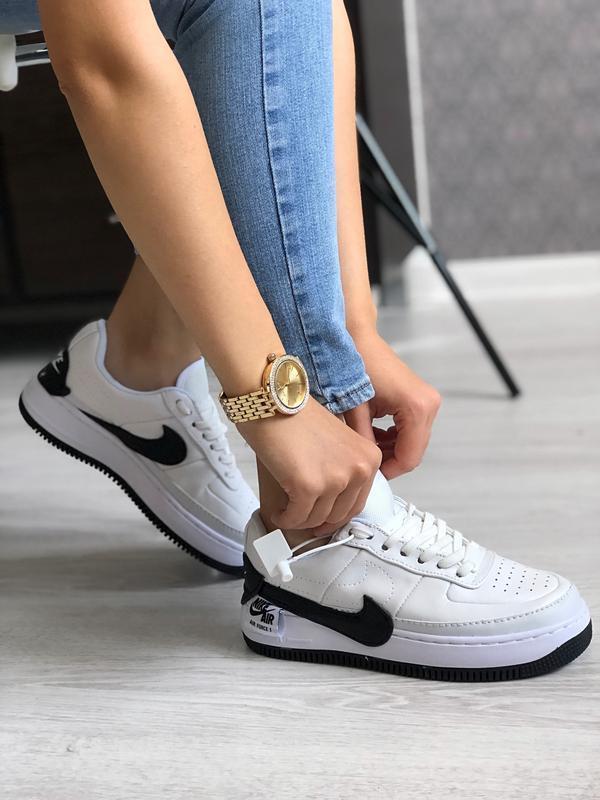 Шикарные женские кроссовки nike air force 1 jester white белые...