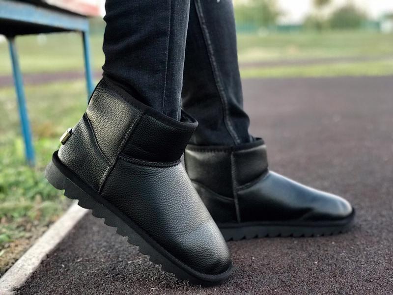 Шикарные мужские сапоги угги ugg classic mini black чёрные😃 (о...