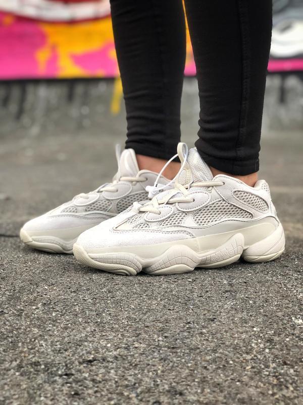 Шикарные женские кроссовки adidas yeezy boost 500 бежевые😃 (ве...