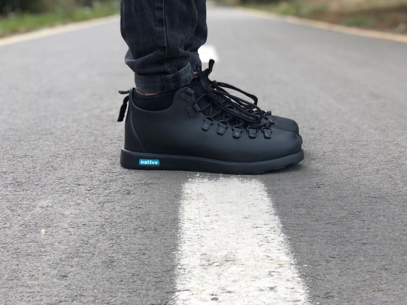 Шикарные мужские ботинки native fitzsimmons black😃 (осень зима)