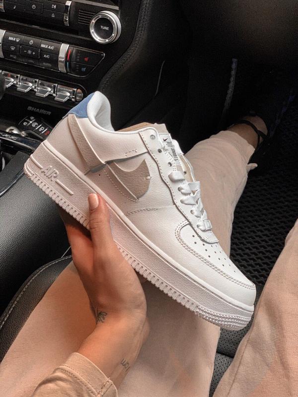 Шикарные женские кроссовки nike air force 1 low white 😃 (весна...