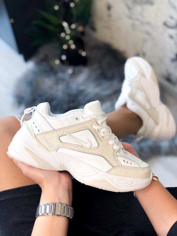Шикарные женские кроссовки nike m2k tekno white белые😃 (весна ...