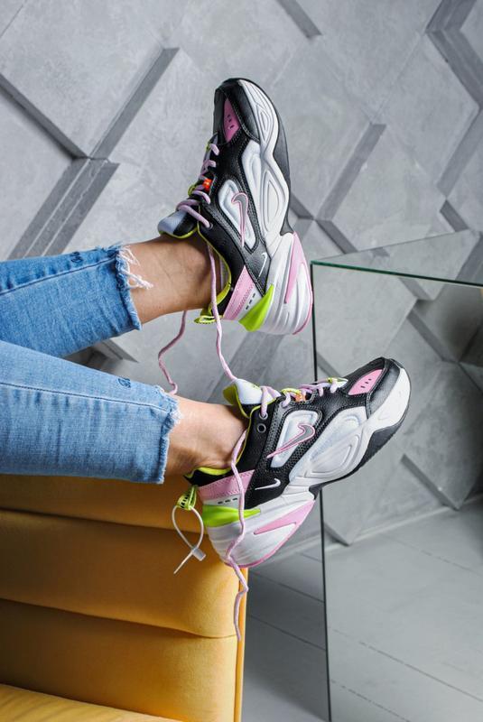 Шикарные женские кроссовки nike m2k tekno black white pink 😃 (...