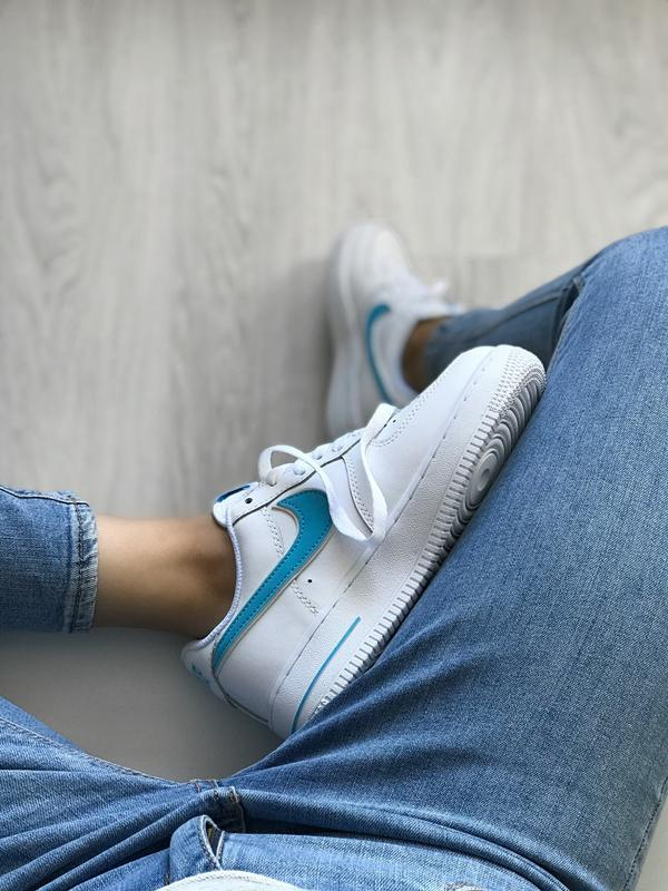 Шикарные женские кроссовки nike air force 1 low white белые с ...