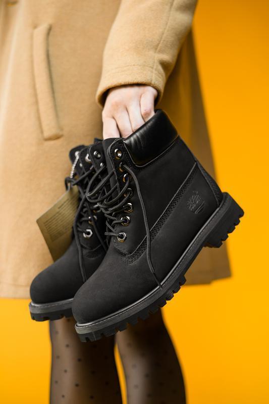 Шикарные женские ботинки timberland black ( термо) 😃( осень ев...