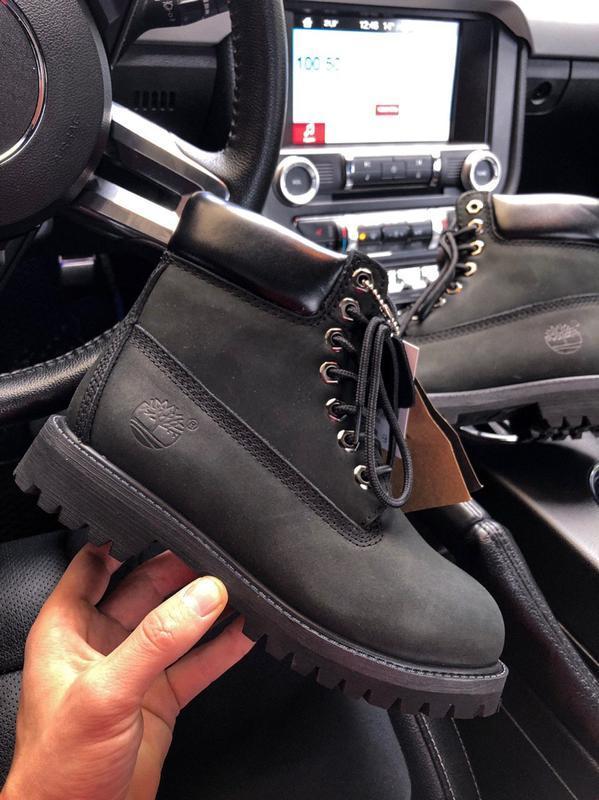 Шикарные мужские timberland 6 inch premium black термо😃 (осени...