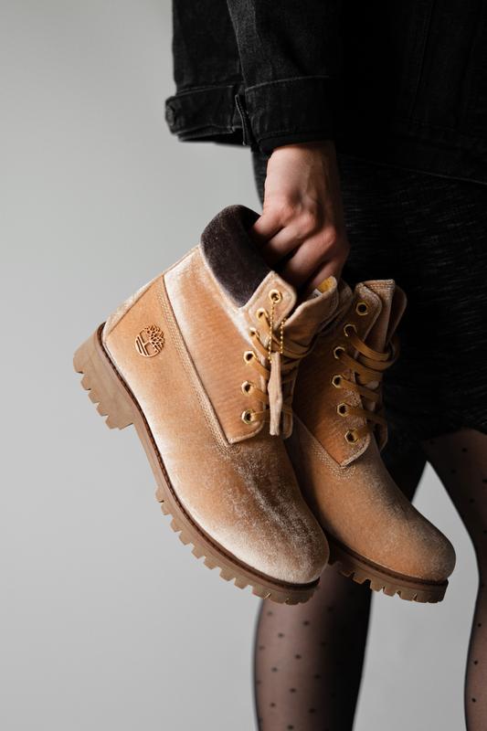 Шикарные женские ботинки timberland x off white ginger (термо)...