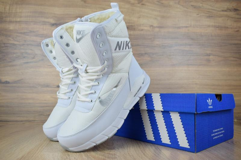 Шикарные женские сапоги ботинки дутики nike zoom сапоги белые ...