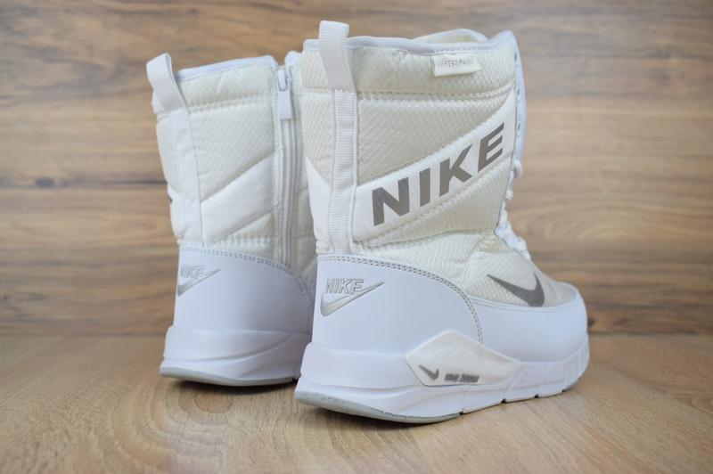 Шикарные женские сапоги ботинки дутики nike zoom сапоги белые ... - Фото 3